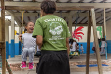 Playing outside in an Ecuador Care Placement
