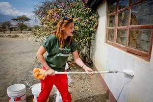 Rakennushankeen osallistuva vapaaehtoinen