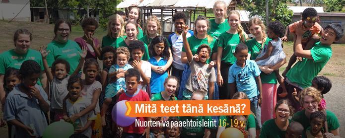 Lähde vapaaehtoistöihin nuorten vapaaehtoisleirille