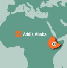 Etiopien Karta