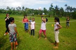 Vapaaehtoistyö liikuntahankkeessa Samoalla